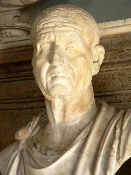 Portrait de l'empereur Decius, donnant l'impression d'angoisse